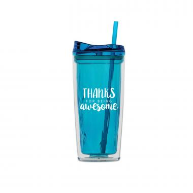 Thanks for Being Awesome 16oz Gem Tumbler