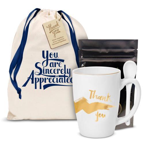 Thank You Gold Bistro Mug Gift Set