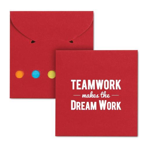 Teamwork Dream Work Sticky Note Pocket Pack