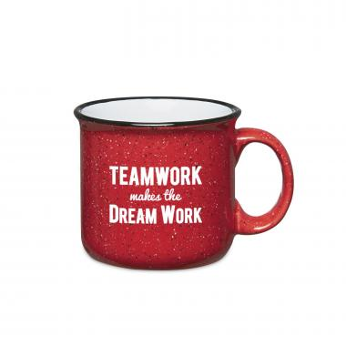 Teamwork Dream Work 15oz Camp Mug