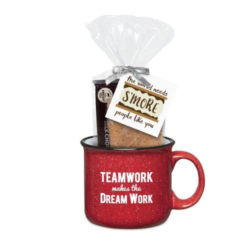 Teamwork Dream Work 15oz Camp Mug & S'Mores Gift Set