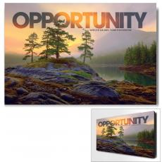 Modern Motivational Posters - Opportunity Mountain Lake Motivational Art