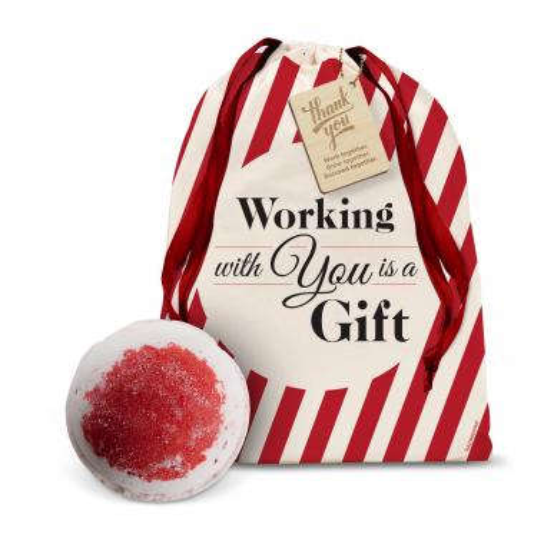 Sweet Almond & Cherry Bath Bomb Holiday Gift Set