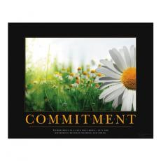 All Motivational Posters - Commitment Daisy Motivational Poster