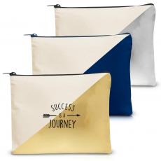 Canvas Bags - Success is a Journey Handy Gadget Pouch