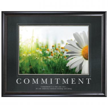 Commitment Daisy Motivational Poster