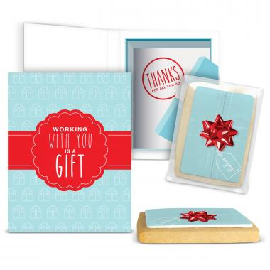 Working With You is a Gift Gourmet Cookie Card
