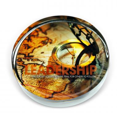 Leadership Compass Positive Outlook Paperweight