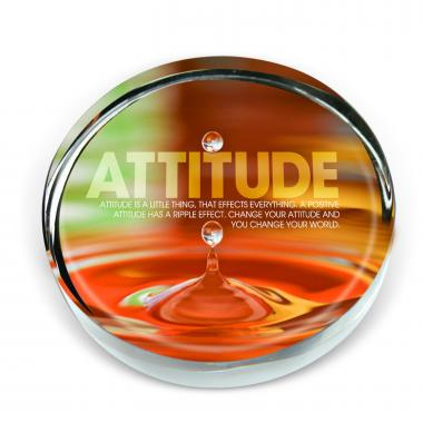Attitude Drop Positive Outlook Paperweight