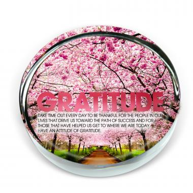 Gratitude Cherry Blossoms Positive Outlook Paperweight