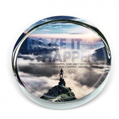 Make it Happen Mountain Positive Outlook Paperweight
