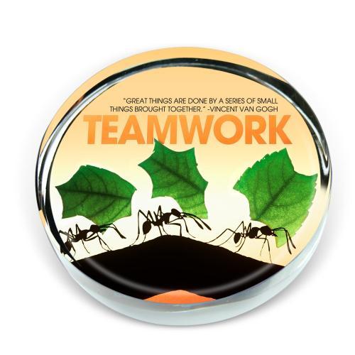 Teamwork Ants Positive Outlook Paperweight