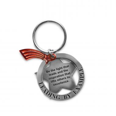 Leading by Example Star Metal Keychain