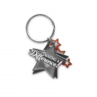 Making a Difference Star Metal Keychain