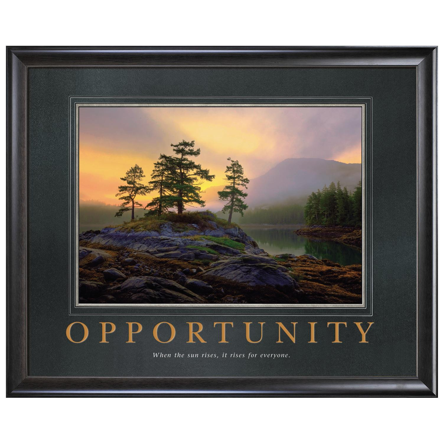 Opportunity Mountain Lake Motivational Poster