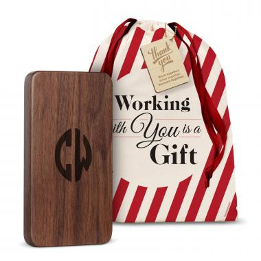 Wooden Power Bank Holiday Gift Set
