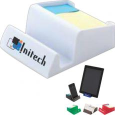 Office Supplies - Media/card stand and sticky note/flag holder made of plastic