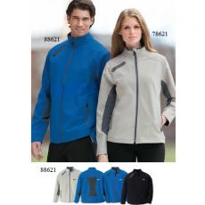 Performance Apparel - North End Sport<sup>®</sup> - S-XL -  Men's 3-layer light bonded soft shell jacket with chin guard