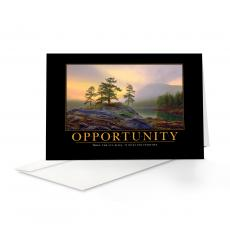 Motivational Cards - Opportunity Mountain Lake 25-Pack Greeting Cards