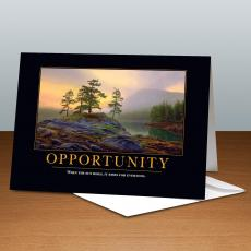 Classic Motivational Cards - Opportunity Mountain Lake 25-Pack Greeting Cards