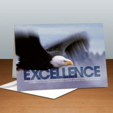 Modern Motivational Cards - Excellence Eagle Infinity Edge 25-Pack Greeting Cards