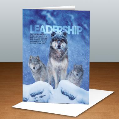 Leadership Wolves Infinity Edge 25-Pack Greeting Cards