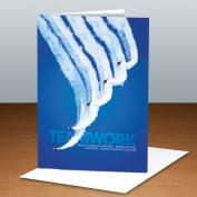 Teamwork Jets Infinity Edge 25-Pack Greeting Cards