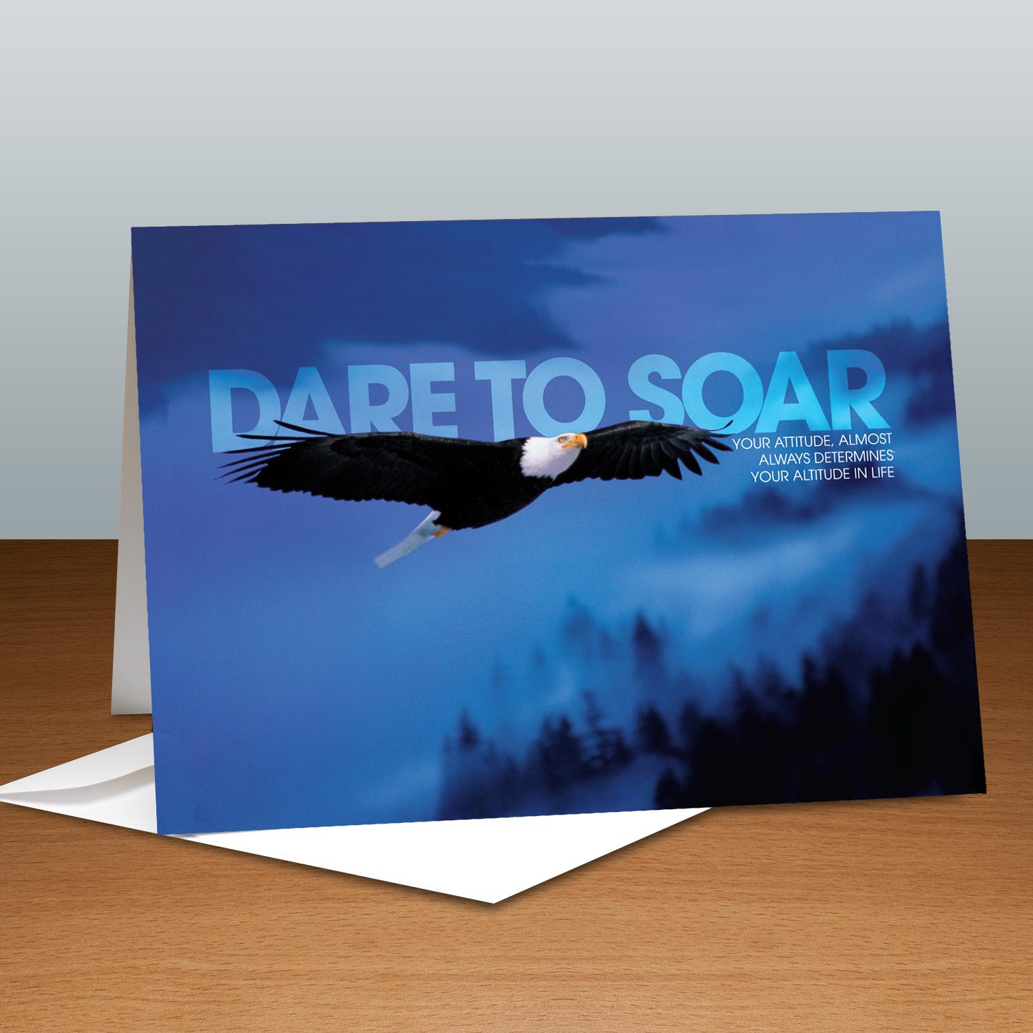 Dare To Soar Eagle Infinity Edge 25-Pack Greeting Cards