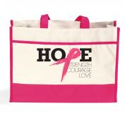 Hope-Pink Canvas Tote Bag