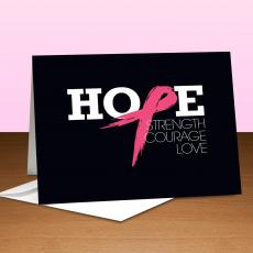 Breast Cancer Awareness - Hope-Pink Greeting Card 10-Pack