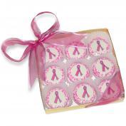 Hope-Pink Ribbon White Chocolate Covered Oreo Cookies
