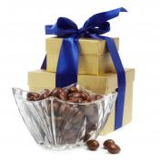 Chocolate Almonds with Crystal Bowl