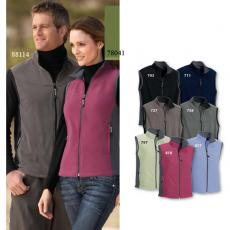 Vests General - North End<sup>®</sup> - XS-XL -  Ladies' microfleece vest with contrast side panels