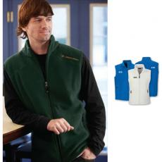Vests General - North End<sup>®</sup>;Voyage - S-XL -  Men's fleece vest with center front reverse coil zipper