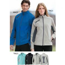 Performance Apparel - North End Sport<sup>®</sup> - 2XL -  Ladies' 3-layer light bonded soft shell jacket with chin guard