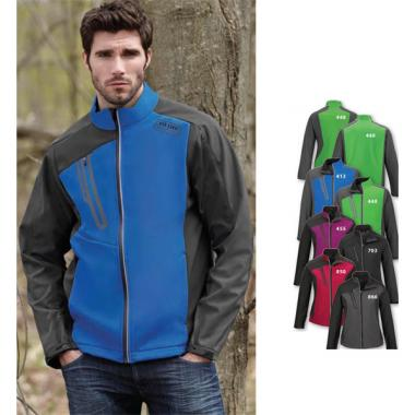 North End<sup>&reg;</sup>;Terrain - 2XL -  Men's soft shell jacket with embossed print