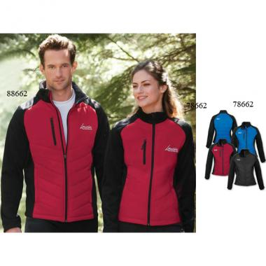 Epic;North End Sport<sup>&reg;</sup> - 2XL -  Ladies' insulated hybrid bonded fleece jacket