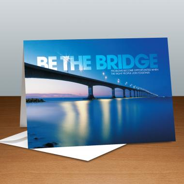 Be The Bridge Infinity Edge Greeting Cards