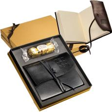 Journals - Americana;Ferrero Rocher<sup>®</sup>;Leeman New York Collection - Chocolates & Wrapped Journal Gift Set