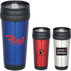 Drinking Glasses - Redondo - 14-oz. Travel tumbler, stainless steel with polypropylene liner