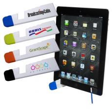 Tradeshow & Event Supplies - Foldable tablet easel; ABS plastic stand for iPads<sup>®</sup>, Kindles<sup>®</sup> & tablets