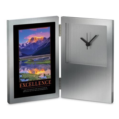 Excellence Mountain Desk Clock
