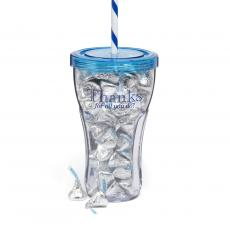 Candy & Food Gifts - Thank You Candy Tumbler-Blue