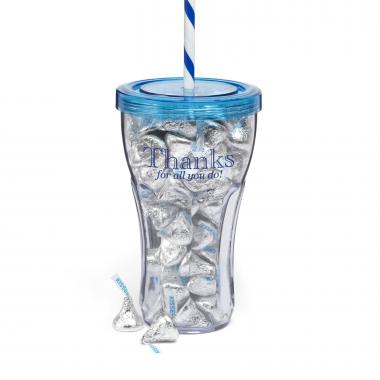 Thank You Candy Tumbler-Blue