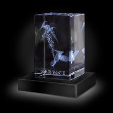 Trophy Awards - Service Hummingbird 3D Crystal Award