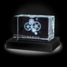 Paperweights - Synergy Gears 3D Crystal Award