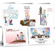 SOHO Whimsical Sampler 10-Pack Greeting Cards