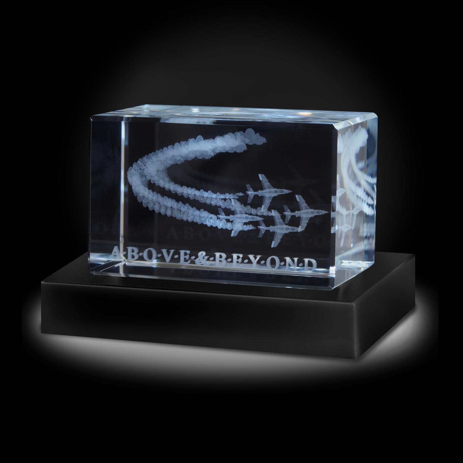 Above and Beyond 3D Crystal Award