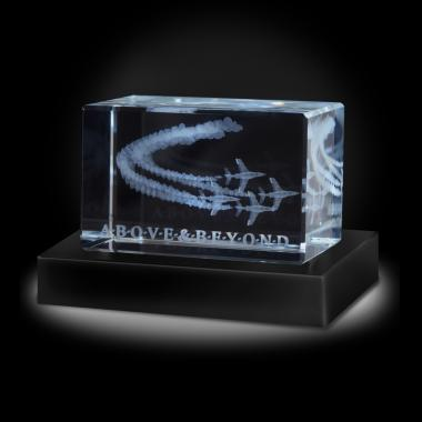 Above and Beyond Jets 3D Crystal Award