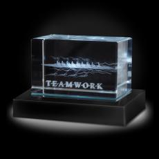 Paperweights - Teamwork Rowers 3D Crystal Award